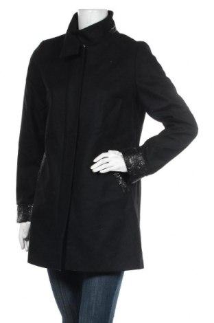 Dámský kabát , Velikost M, Barva Černá, 70% vlna, 25% polyamide, 5% polyester, Cena  1015,00Kč