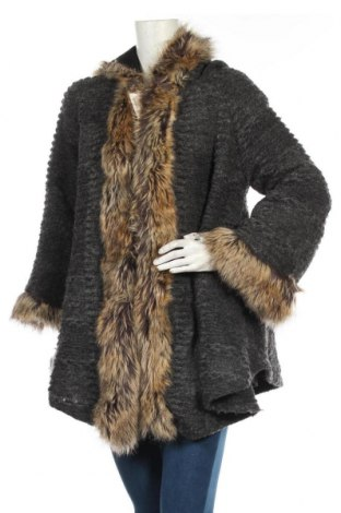 Dámský kabát , Velikost S, Barva Šedá, 65% vlna, 30% polyester, 5% elastan, Cena  550,00Kč