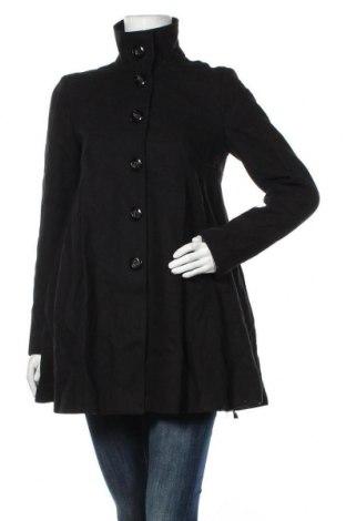 Дамско палто ASOS, Размер S, Цвят Черен, 47% вълна, 25% полиестер, 8% акрил, 8% вискоза, 7% памук, 5% полиамид, Цена 96,60лв.