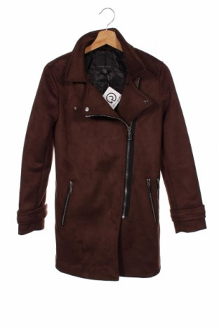 Дамско палто Amisu, Размер XS, Цвят Кафяв, 93% полиестер, 7% еластан, Цена 61,95лв.