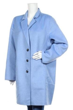 Дамско палто Banana Republic, Размер XL, Цвят Син, 51% полиестер, 59% вълна, Цена 291,75лв.