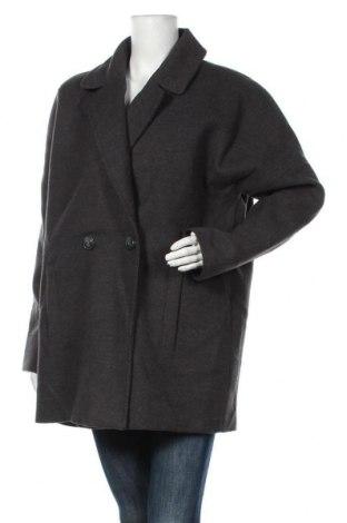 Дамско палто Blue Motion, Размер L, Цвят Сив, 90% полиестер, 7% вискоза, 3% еластан, Цена 56,70лв.
