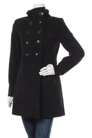 Дамско палто Buffalo, Размер M, Цвят Черен, 77% полиестер, 20% вискоза, 3% еластан, Цена 58,80лв.