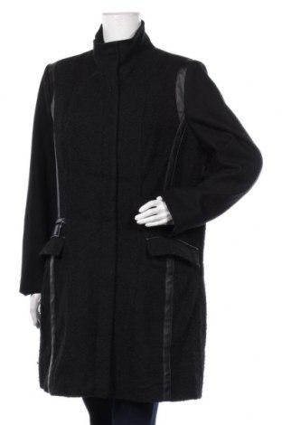 Дамско палто Charles Vogele, Размер XL, Цвят Черен, 50% вълна, 40% полиестер, 5% други нишки, 5% полиакрил, Цена 60,90лв.