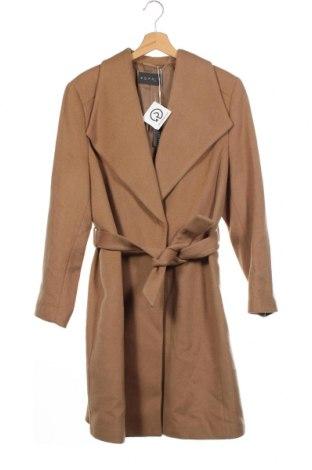 Дамско палто Esprit, Размер XXS, Цвят Кафяв, 68% вълна, 20% полиестер, 10% кашмир, 2% други нишки, Цена 156,75лв.