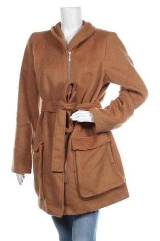 Дамско палто Fashion hero by S.Oliver, Размер XL, Цвят Кафяв, 45% вълна, 39% полиамид, 16% полиестер, Цена 188,30лв.