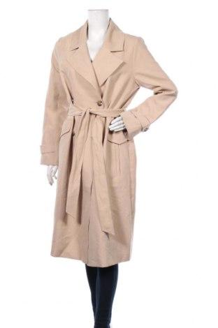 Дамско палто Forever New, Размер M, Цвят Бежов, 89% полиестер, 11% полиамид, Цена 99,40лв.