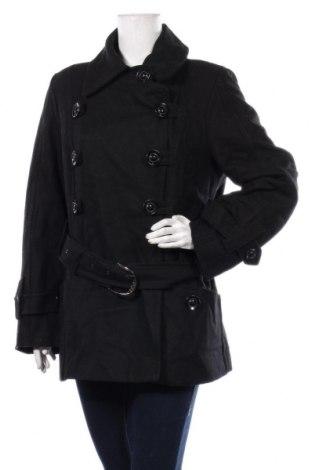 Dámský kabát  KappAhl, Velikost XL, Barva Černá, 60% vlna, 30% viskóza, 10% vlákno, Cena  714,00Kč