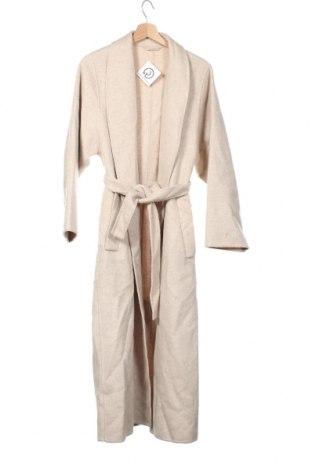 Palton de femei Massimo Dutti, Mărime XS, Culoare Bej, Lână, Preț 787,01 Lei