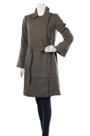 Дамско палто Mint & Berry, Размер XS, Цвят Зелен, 67% полиестер, 32% вискоза, 1% еластан, Цена 89,25лв.