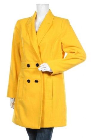 Дамско палто Miss Selfridge, Размер L, Цвят Жълт, Полиестер, Цена 104,25лв.