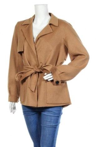 Дамско палто Selected Femme, Размер L, Цвят Кафяв, 50% вълна, 45% полиестер, 5% други нишки, Цена 209,25лв.