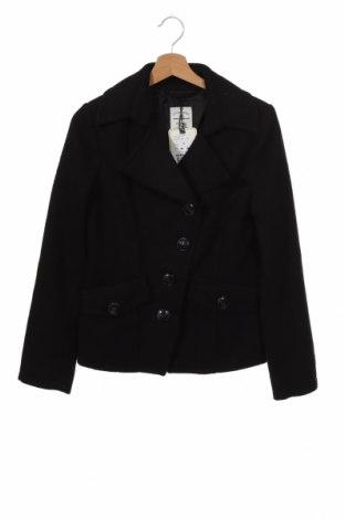 Дамско палто Tom Tailor, Размер XS, Цвят Черен, 90% полиестер, 10% вълна, Цена 129,35лв.