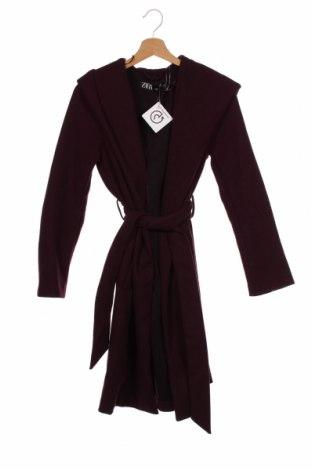 Palton de femei Zara, Mărime XS, Culoare Mov, Poliester, Preț 226,97 Lei