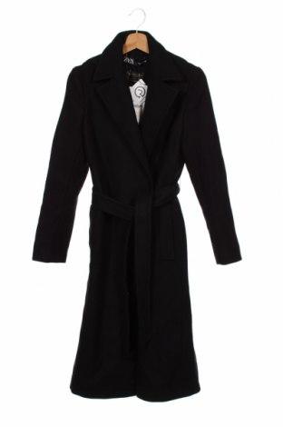 Palton de femei Zara, Mărime XS, Culoare Gri, 75% lână, 25% poliamidă, Preț 466,28 Lei
