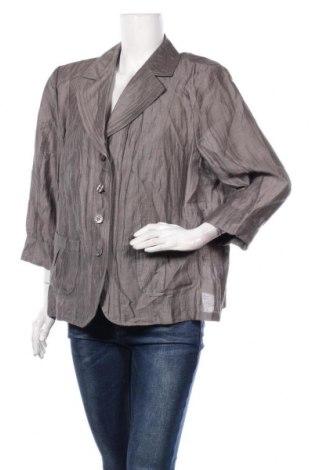 Дамско сако Gelco, Размер XL, Цвят Сив, 86% лен, 14% полиамид, Цена 15,12лв.