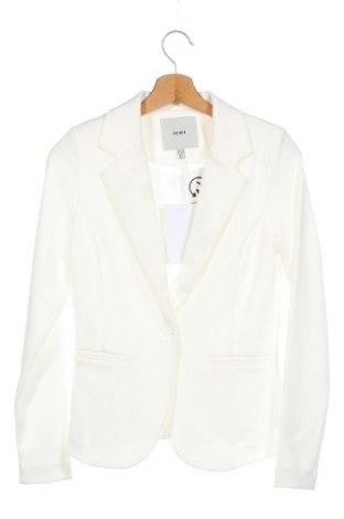 Γυναικείο σακάκι Ichi, Μέγεθος XS, Χρώμα Λευκό, 74% πολυεστέρας, 22% βισκόζη, 4% ελαστάνη, Τιμή 33,74€