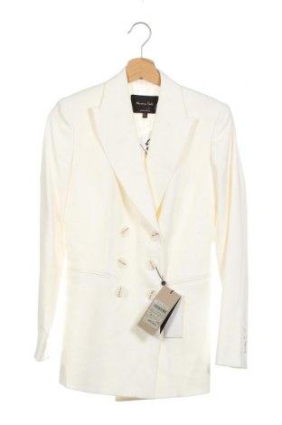 Γυναικείο σακάκι Massimo Dutti, Μέγεθος XS, Χρώμα Εκρού, 68% βισκόζη, 29% πολυεστέρας, 3% ελαστάνη, Τιμή 80,80€