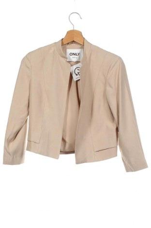 Γυναικείο σακάκι ONLY, Μέγεθος XS, Χρώμα  Μπέζ, Πολυεστέρας, Τιμή 24,38€