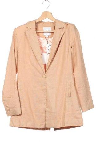 Дамско сако Unique 21, Размер XS, Цвят Кафяв, 55% лен, 45% вискоза, Цена 30,02лв.