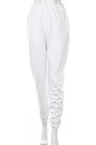 Pantaloni trening de femei Missguided, Mărime S, Culoare Alb, 55% poliester, 45% bumbac, Preț 88,65 Lei