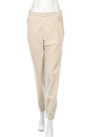 Pantaloni trening de femei Napapijri, Mărime S, Culoare Bej, Poliester, Preț 228,62 Lei