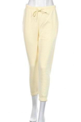 Dámské tepláky Pieces, Velikost S, Barva Žlutá, 60% bavlna, 40% polyester, Cena  500,00Kč