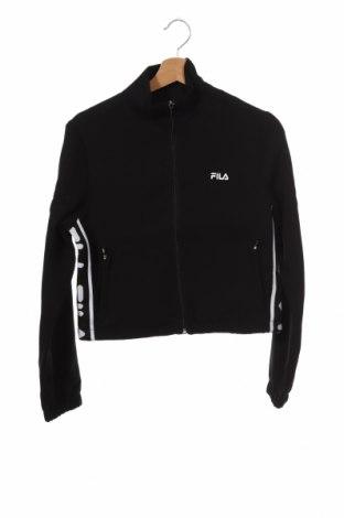 Дамско спортно горнище Fila, Размер XS, Цвят Черен, Полиестер, Цена 48,30лв.