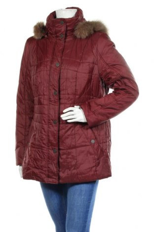 Γυναικείο μπουφάν Canda, Μέγεθος XL, Χρώμα Κόκκινο, Πολυαμίδη, φυσική τρίχα, Τιμή 36,37€
