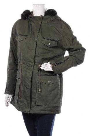 Geacă de femei Even&Odd, Mărime XL, Culoare Verde, Bumbac, Preț 207,24 Lei