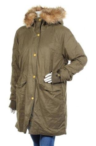Γυναικείο μπουφάν H&M L.O.G.G., Μέγεθος XL, Χρώμα Πράσινο, 58% βαμβάκι, 33% πολυεστέρας, 9% πολυαμίδη, Τιμή 33,77€