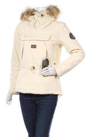 Γυναικείο μπουφάν Napapijri, Μέγεθος S, Χρώμα Εκρού, 96% πολυαμίδη, 4% ελαστάνη, Τιμή 173,58€