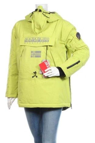 Дамско яке за зимни спортове Napapijri, Размер S, Цвят Зелен, Полиамид, Цена 449,25лв.