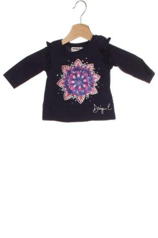 Детска блуза Desigual, Размер 6-9m/ 68-74 см, Цвят Син, Памук, Цена 29,25лв.