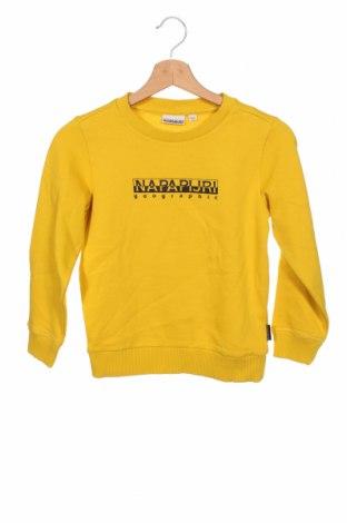 Dětská halenka  Napapijri, Velikost 7-8y/ 128-134 cm, Barva Žlutá, 80% bavlna, 20% polyester, Cena  859,00Kč