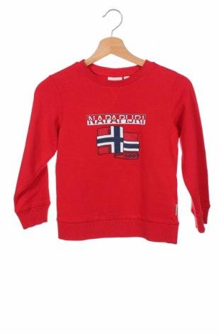 Детска блуза Napapijri, Размер 7-8y/ 128-134 см, Цвят Червен, 80% памук, 20% полиестер, Цена 51,75лв.