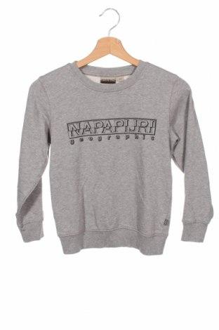 Детска блуза Napapijri, Размер 7-8y/ 128-134 см, Цвят Сив, 80% памук, 20% полиестер, Цена 59,25лв.