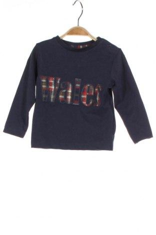 Детска блуза ZY kids, Размер 9-12m/ 74-80 см, Цвят Син, Памук, Цена 21,00лв.