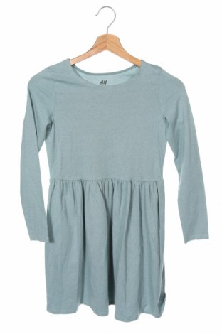 Παιδικό φόρεμα H&M, Μέγεθος 8-9y/ 134-140 εκ., Χρώμα Μπλέ, 78% βαμβάκι, 12% πολυεστέρας, 6% μεταλλικά νήματα, 4% ελαστάνη, Τιμή 12,53€
