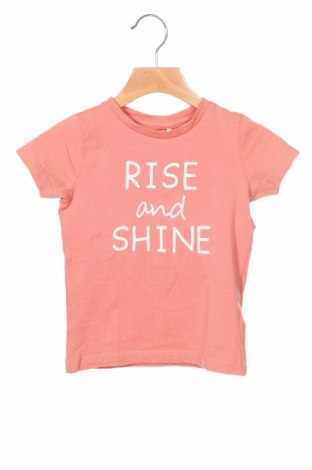 Детска тениска Name It, Размер 12-18m/ 80-86 см, Цвят Пепел от рози, 95% памук, 5% еластан, Цена 19,50лв.