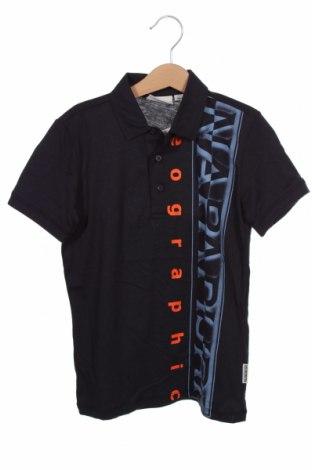 Детска тениска Napapijri, Размер 7-8y/ 128-134 см, Цвят Син, Памук, Цена 46,50лв.
