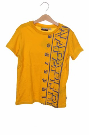 Детска тениска Napapijri, Размер 7-8y/ 128-134 см, Цвят Жълт, Памук, Цена 44,25лв.