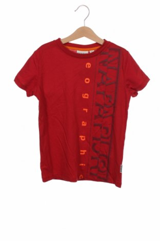 Детска тениска Napapijri, Размер 7-8y/ 128-134 см, Цвят Червен, Памук, Цена 44,25лв.