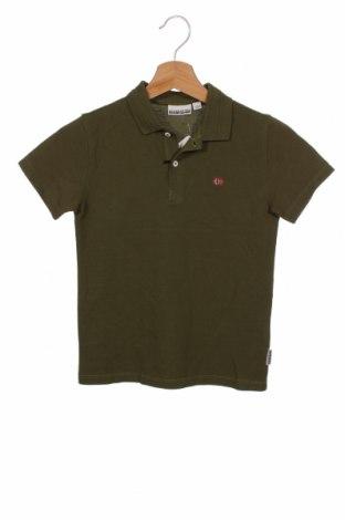 Детска тениска Napapijri, Размер 7-8y/ 128-134 см, Цвят Зелен, Памук, Цена 51,75лв.
