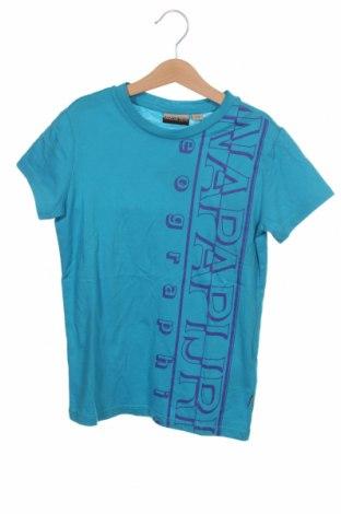 Детска тениска Napapijri, Размер 7-8y/ 128-134 см, Цвят Син, Памук, Цена 44,25лв.