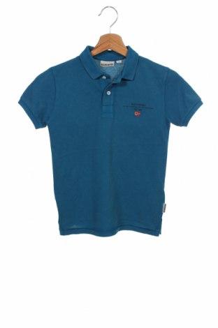 Детска тениска Napapijri, Размер 7-8y/ 128-134 см, Цвят Син, Памук, Цена 51,75лв.
