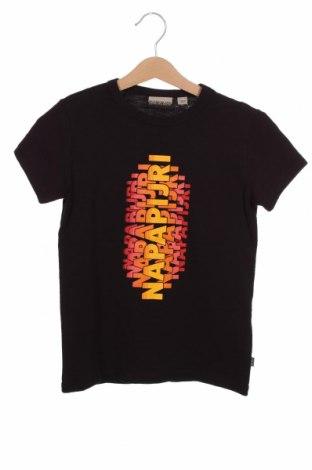Детска тениска Napapijri, Размер 7-8y/ 128-134 см, Цвят Черен, Памук, Цена 44,25лв.