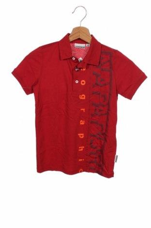 Детска тениска Napapijri, Размер 7-8y/ 128-134 см, Цвят Червен, Памук, Цена 51,75лв.