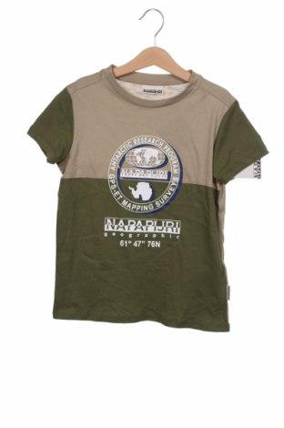Детска тениска Napapijri, Размер 7-8y/ 128-134 см, Цвят Зелен, Памук, Цена 44,25лв.