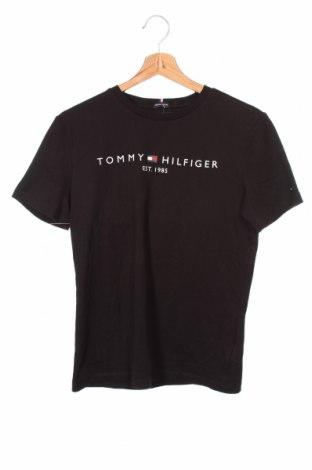 Παιδικό μπλουζάκι Tommy Hilfiger, Μέγεθος 12-13y/ 158-164 εκ., Χρώμα Μαύρο, Βαμβάκι, Τιμή 20,10€